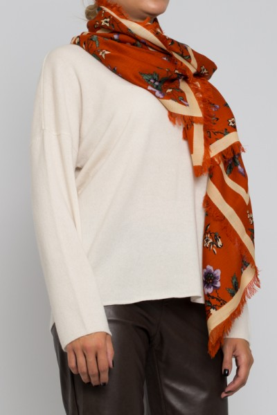 Tory Burch Lyonnaise Floral Kira Oversited Square