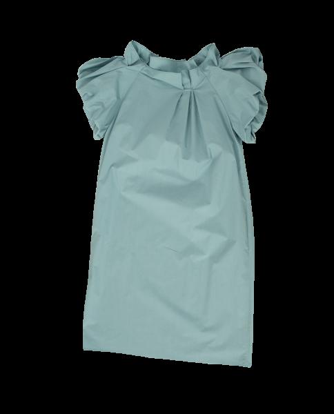 ODEEH Kleid mit ausgestellten Ärmeln