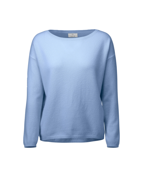 ALLUDE blauer Kashmir Pullover