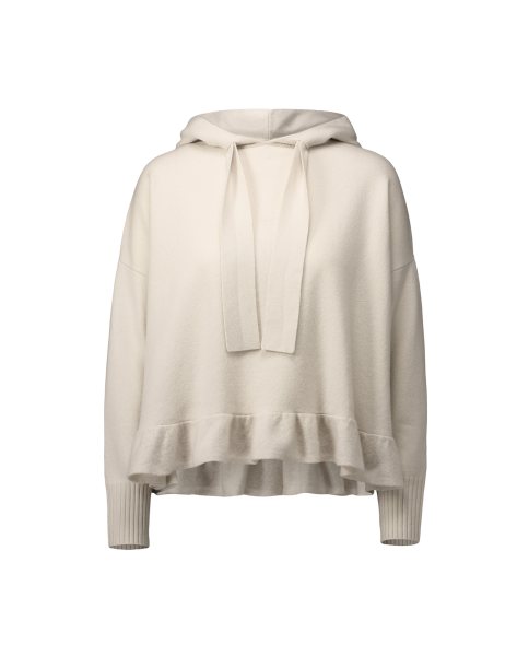 ALLUDE Hoodie mit Volant