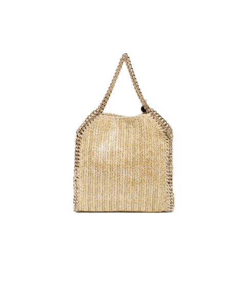 Stella McCartney Mini Tote Metallic Fabric Falabella Gold